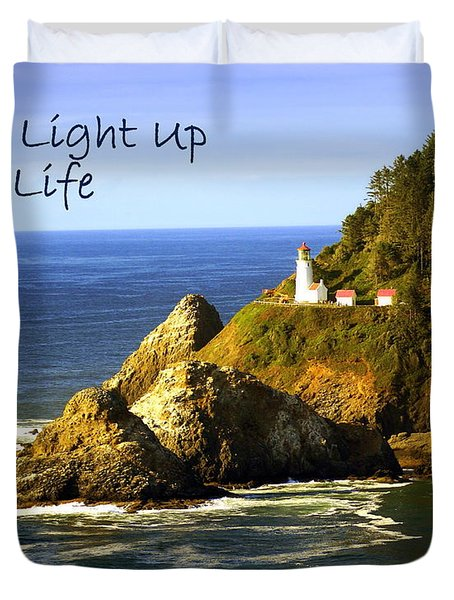 You Light Up My Life 1 Duvet Cover by Marty Koch