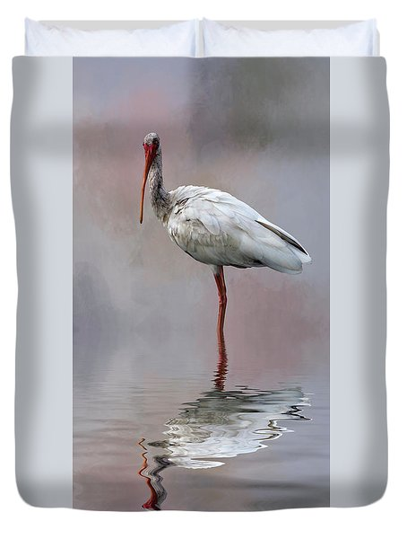 You Lookin' At Me? Duvet Cover by Cyndy Doty