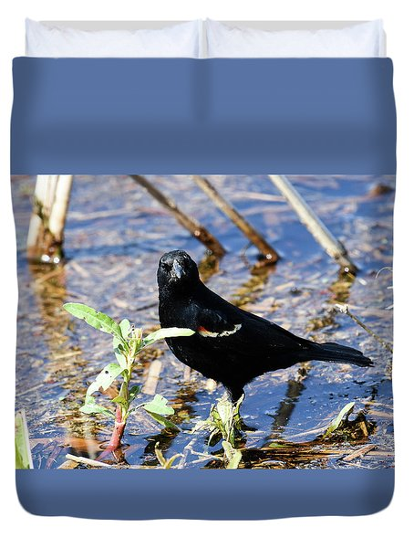 Duvet Cover featuring the photograph You Looking At Me by Gary Wightman
