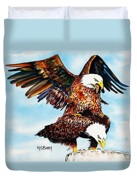 You Ruffle My Feathers Duvet Cover