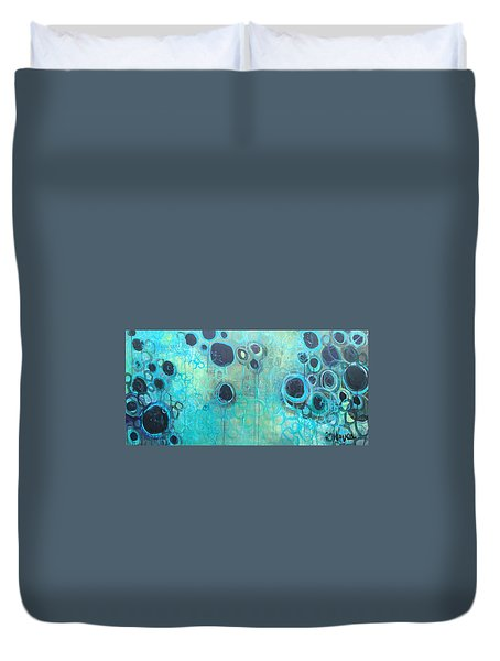 You Said You Wanted To Live By The Ocean Duvet Cover by Laurie Maves ART