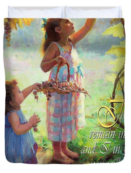 You Will Bear Much Fruit Duvet Cover