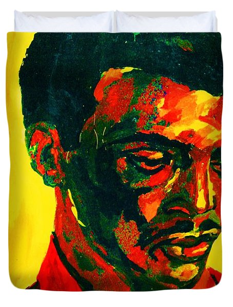 Young African Man Duvet Cover by Carole Spandau