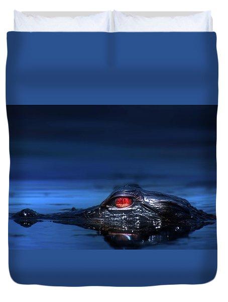 Young Alligator Duvet Cover