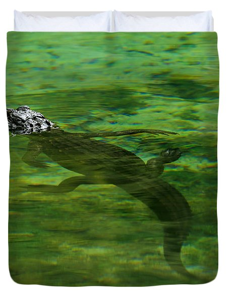 Young Alligator Duvet Cover