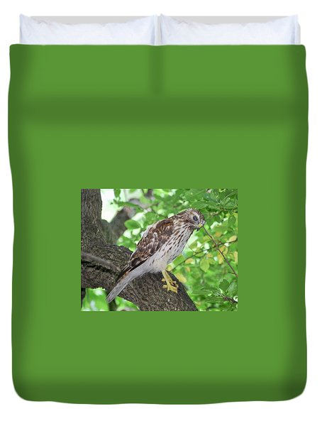 Young Red Shouldered Duvet Cover