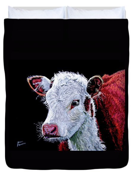 Young Bull Duvet Cover by Stan Hamilton