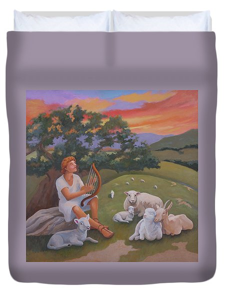 Young David As A Shepherd Duvet Cover