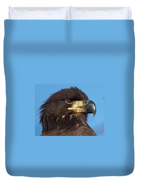 Young Eagle Head Duvet Cover