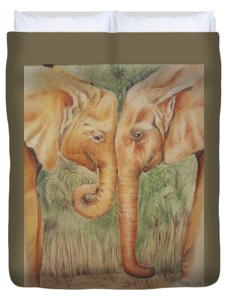 Young Elephants Duvet Cover