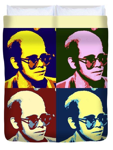 Young Elton John Pop Art Poster Duvet Cover
