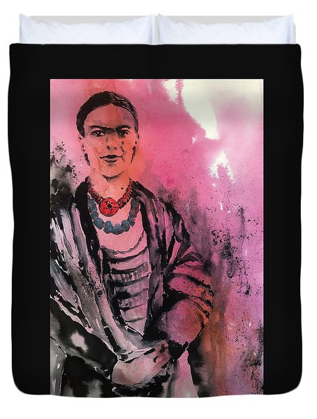 Young Frida Duvet Cover