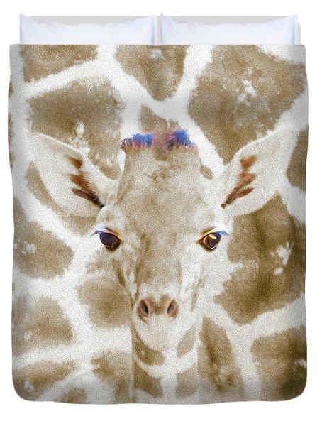 Young Giraffe Duvet Cover