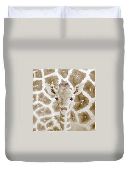Young Giraffe Duvet Cover