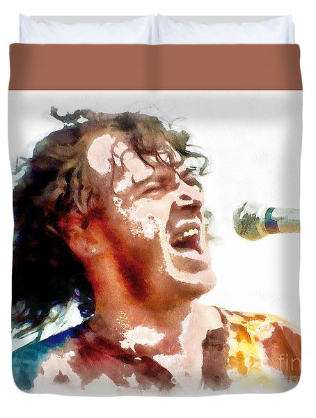 Young Joe Cocker Duvet Cover
