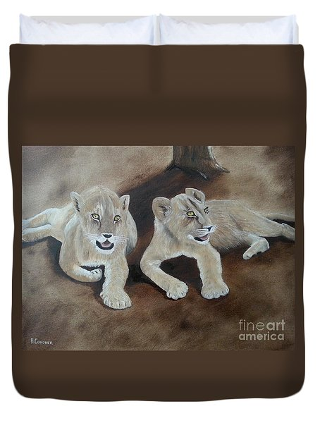 Young Lions Duvet Cover