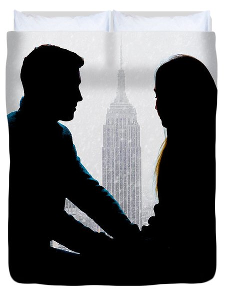 Duvet Cover featuring the photograph Young Love     by Chris Lord