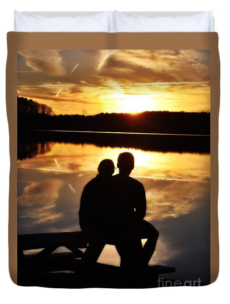Young Love And Sunsets Duvet Cover