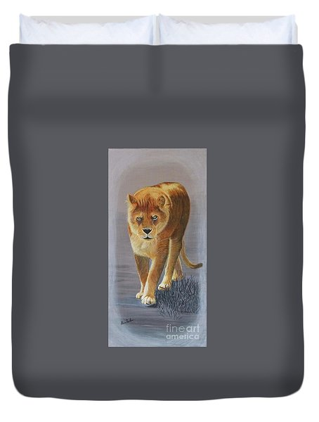 Young Male Lion Duvet Cover