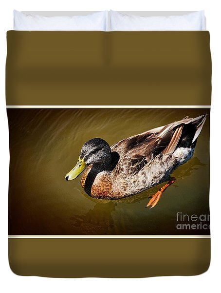 Young Mallard Duvet Cover