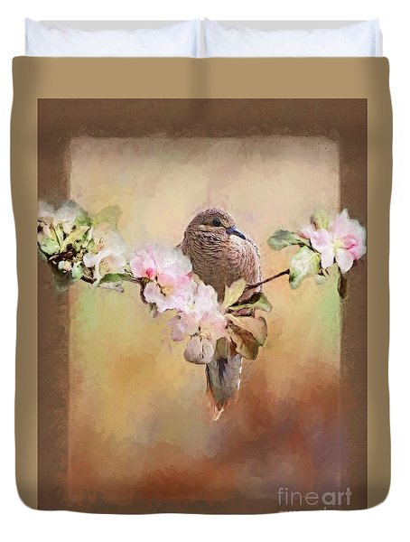Young Morning Dove Duvet Cover