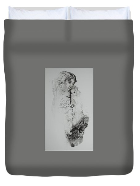 Young Mother  Duvet Cover