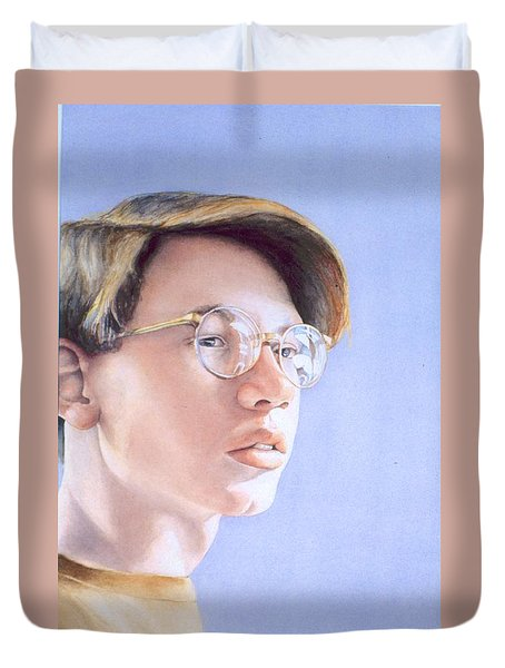 Young Nate Duvet Cover