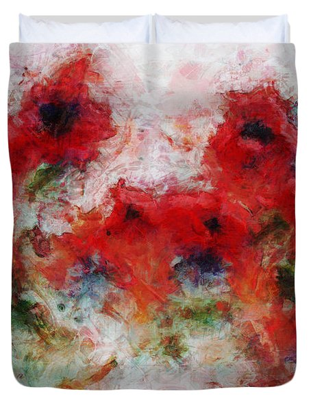 Duvet Cover featuring the painting Young Ones by Claire Bull