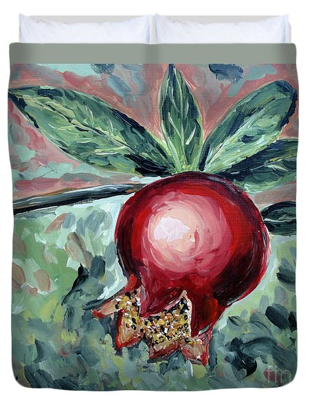 Young Pomegranate Duvet Cover