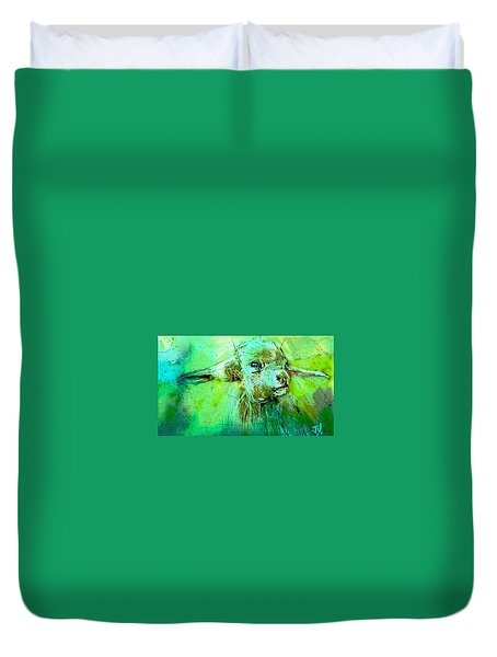 Young Sheep Duvet Cover by Jim Vance