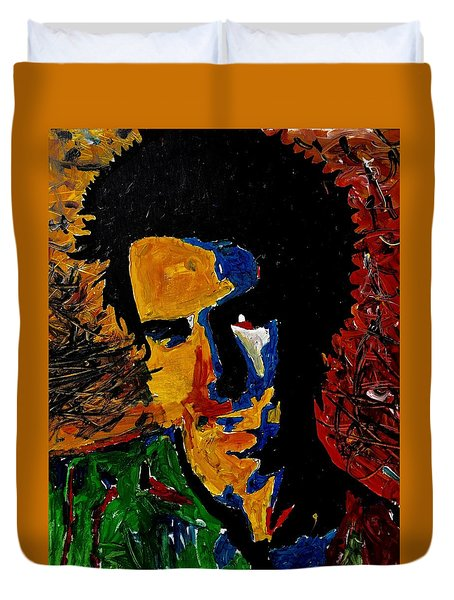 Young Sid Vicious Duvet Cover