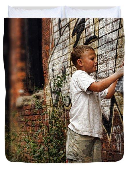 Young Vandal Duvet Cover by Gordon Dean II