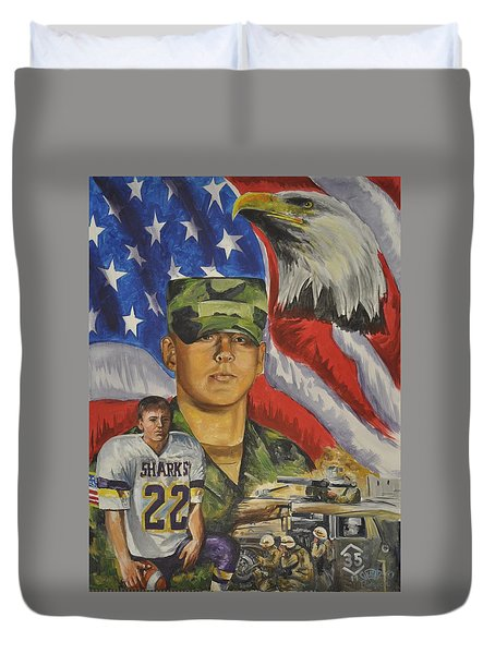 Young Warrior Duvet Cover