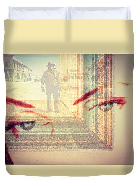 Your Eyes Only Duvet Cover