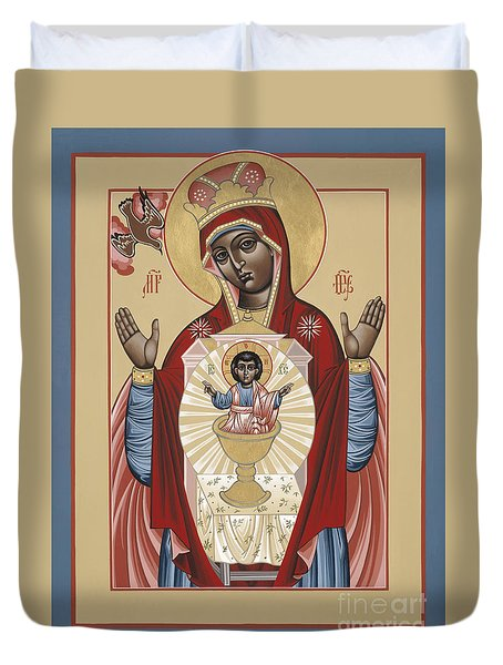 The Black Madonna Your Lap Has Become The Holy Table 060 Duvet Cover