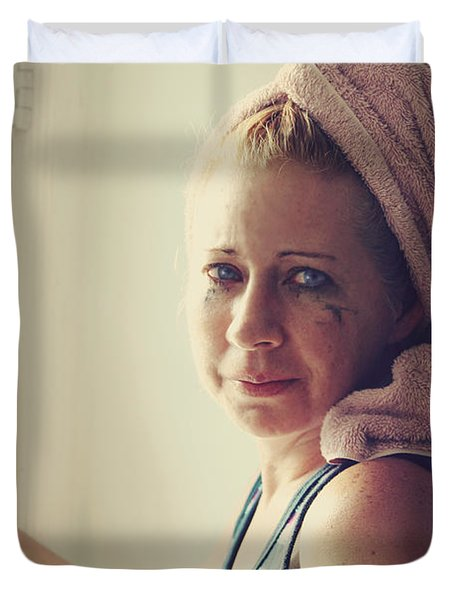 Your Sorrow Shows Duvet Cover by Laurie Search
