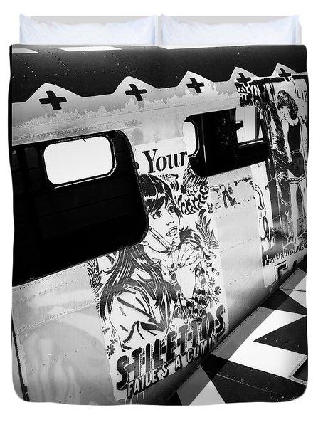 Duvet Cover featuring the photograph Your Stilletos by Chris Dutton