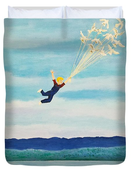 Youth Is Fleeting Duvet Cover