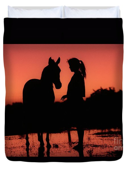 Duvet Cover featuring the photograph Youth by Jim and Emily Bush