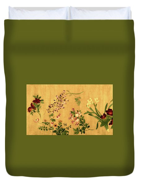Yuan's Hundred Flowers Duvet Cover