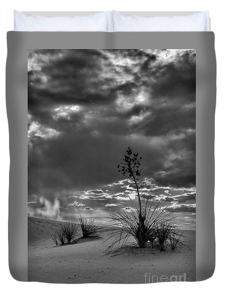 Yucca At Sunset Duvet Cover