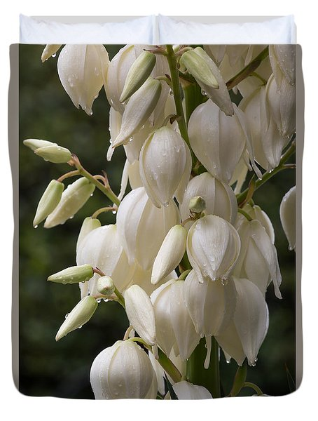 Yucca Plant In Bloom Duvet Cover by Kevin McCarthy