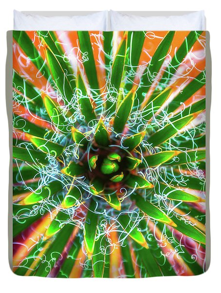 Yucca Sunrise Duvet Cover by Darren White