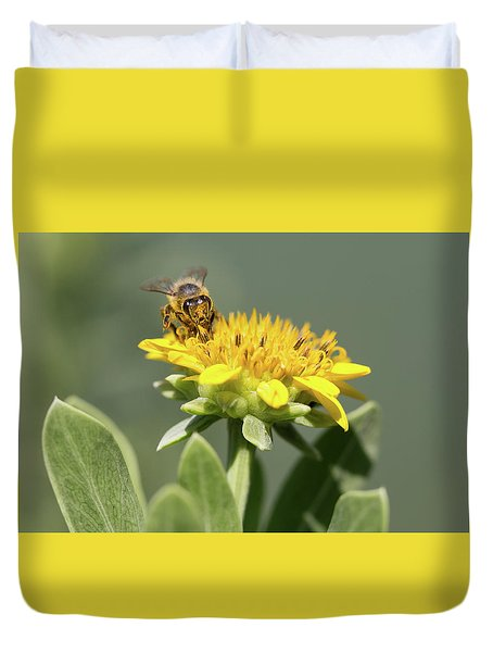 Yumm Pollen Duvet Cover by Christopher L Thomley