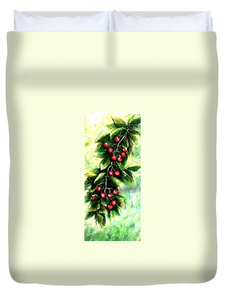 Yummy Cherries Duvet Cover