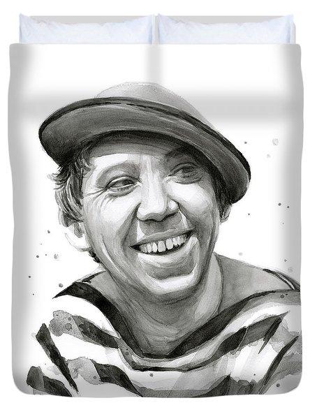 Yuriy Nikulin Portrait Duvet Cover
