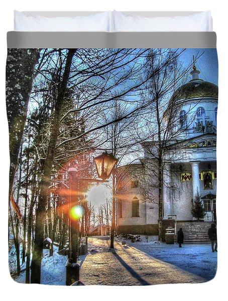 Yury Bashkin Churches, Russia Duvet Cover