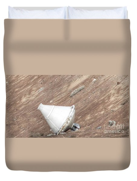 Duvet Cover featuring the pyrography Yury Bashkin Moon Area by Yury Bashkin