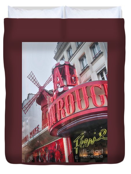 Duvet Cover featuring the pyrography Yury Bashkin Paris Theatr by Yury Bashkin