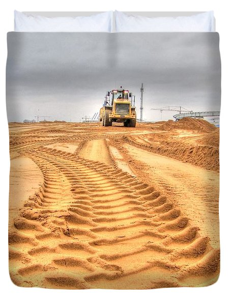 Yury Bashkin The Road On The Construction Duvet Cover